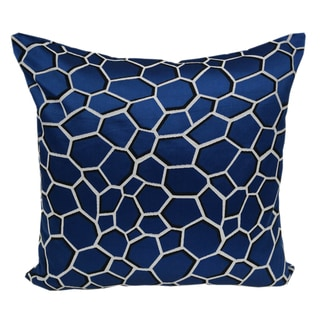 Chic Modern Blue Satin jacquard Poly Geometric Throw Throw Pillowby Home Accent Pillows