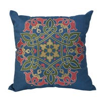 Stunning Embroidered Sapphire Blue Multi-Color Throw Throw Pillowby Home Accent Pillows