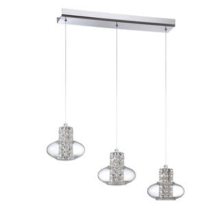 Aria Series Chrome 3-Light Pendant Bar