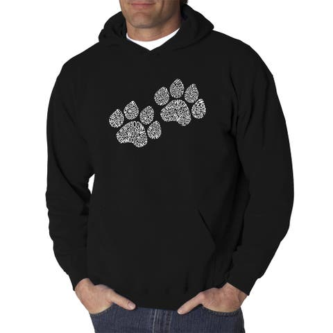 Los Angeles Pop Art Men's Hooded Sweatshirt - Woof Paw Prints