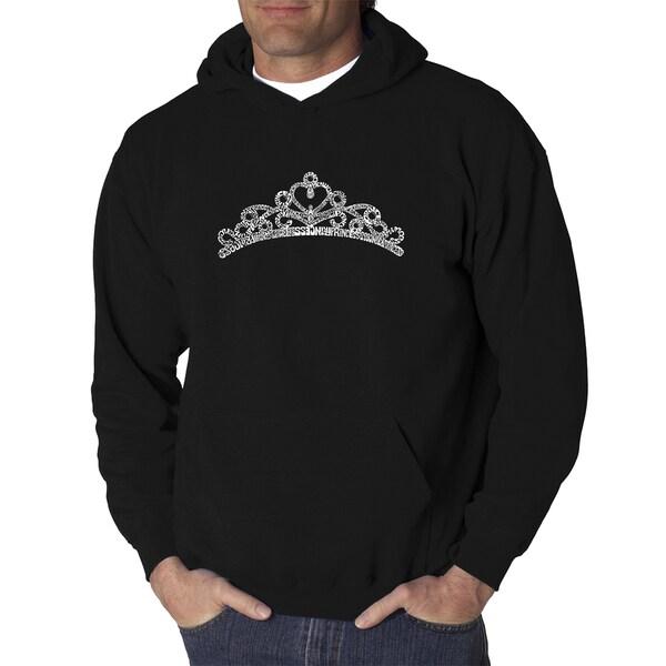Los Angeles Pop Art Mens Hooded Sweatshirt - Princess Tiara