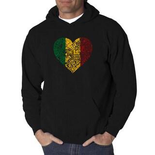 Los Angeles Pop Art Men's Hooded Sweatshirt - One Love Heart