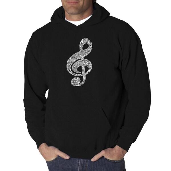 Los Angeles Pop Art Mens Hooded Sweatshirt - Music Note