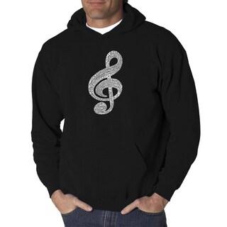 Los Angeles Pop Art Men's Hooded Sweatshirt - Music Note
