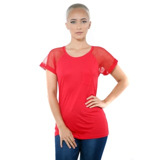 Women's Fish Net ShortSleeve Casual Top