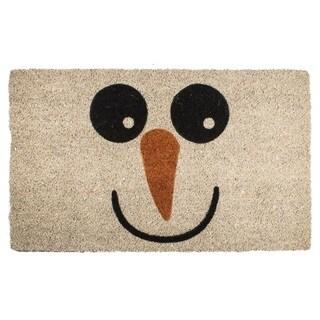 Snowman Non Slip Coir Doormat
