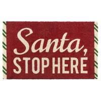 Santa Stop Here Non Slip Coir Doormat
