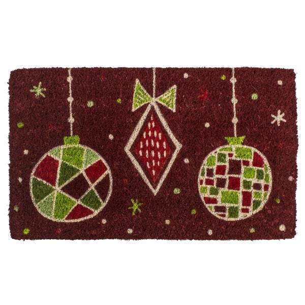 Geo Ornaments Handwoven Coconut Fiber Doormat