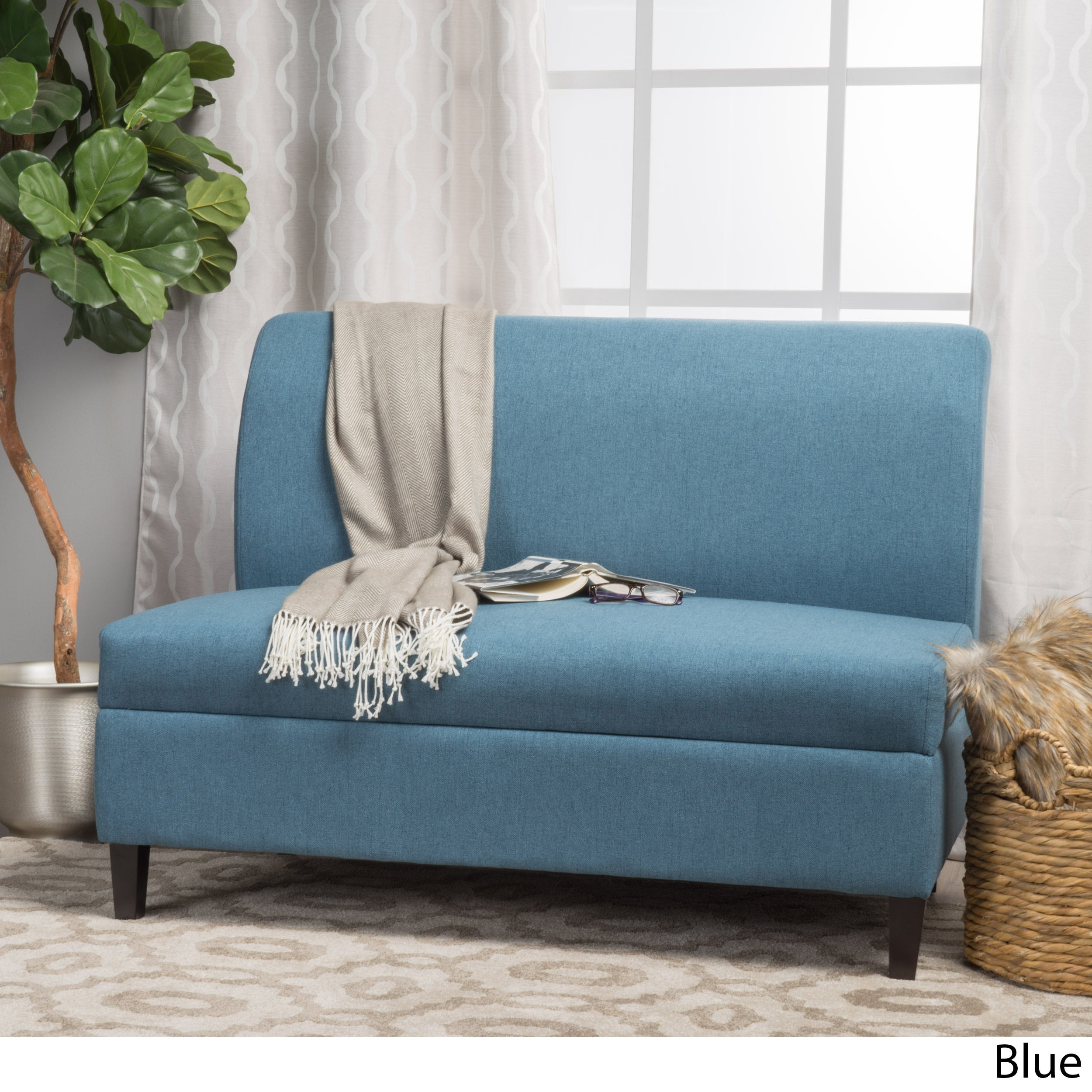 Tovah Fabric Storage Loveseat by Christopher Knight Home ...
