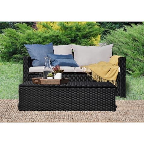 Serta Laguna Outdoor Storage Sofa and Coffee Table