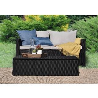 Serta Laguna Outdoor Storage Sofa and Coffee Table