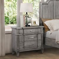 Furniture of America Dresdelle Transitional Grey 3-drawer Nightstand