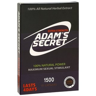 Adam's Secret 1500 100% Natural Male Libido Performance Enhancement (10 Capsules)