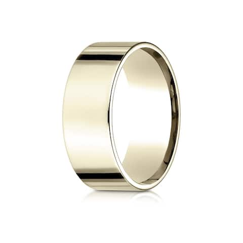 Estie G. 18k Yellow Gold 8mm Flat Comfort-fit Ring