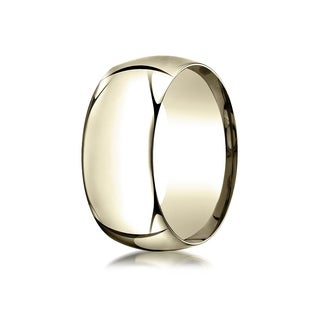 14k Yellow Gold 10-millimeter High Dome Comfort-Fit Ring