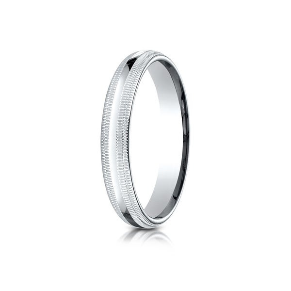 Td123864w 14k White Gold Double Milgrain 4mm Comfort Fit: Shop 14k White Gold 4mm Slightly Domed Standard Comfort