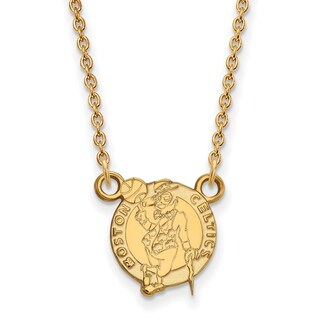 Gold Plated Boston Celtics Small Pendant with Necklace