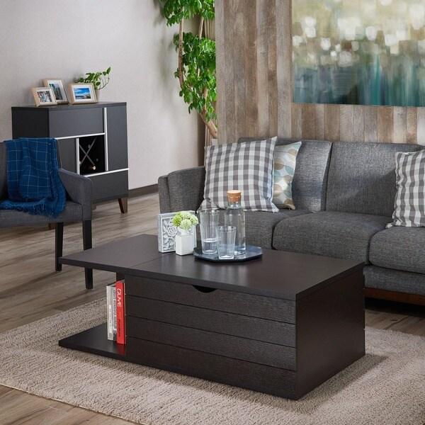Furniture of America Topson Multi-Storage Slide Top Cappuccino Coffee Table