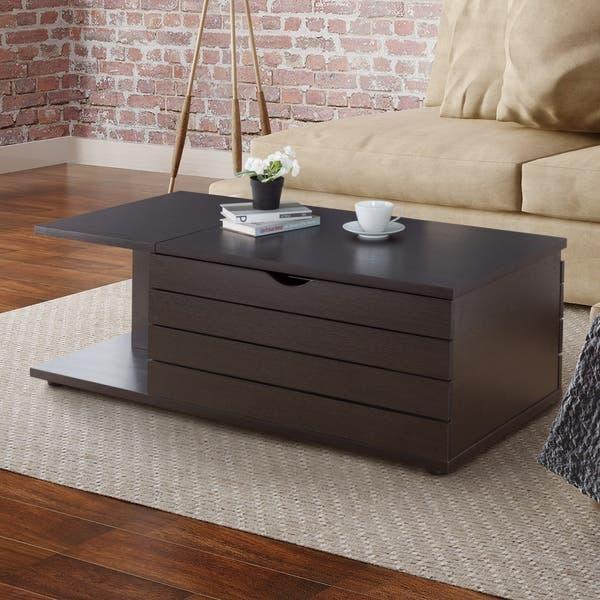Shop Furniture Of America Topson Modern Brown 2 Open Shelf Coffee