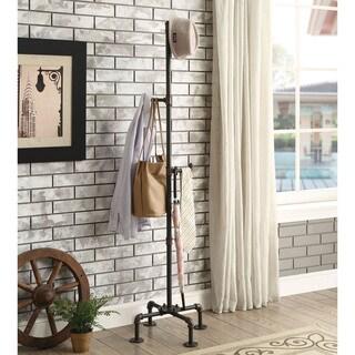 Furniture of America Revo Industrial Sand Black Coat Rack