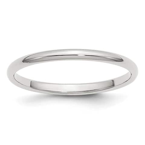 Sterling Silver 2mm Half Round Band by Versil