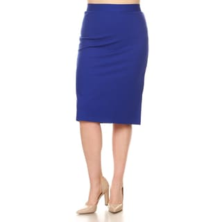 Xehar Women's Plus Size Sexy Slimming Fitted Pencil Skirt