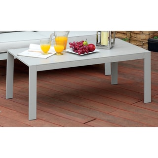 Furniture of America Nila Contemporary Panel Style Grey Outdoor Coffee Table