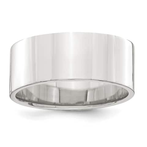 Versil Sterling Silver 8mm Flat Band