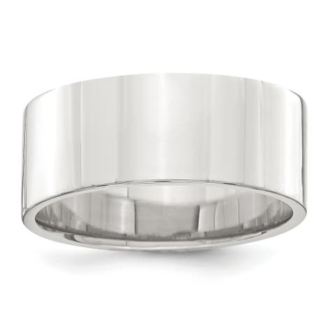 Sterling Silver 8mm Flat Band by Versil