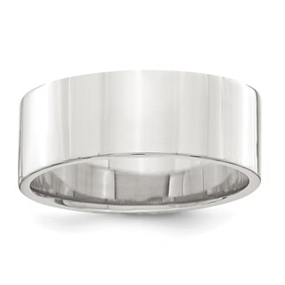 Sterling Silver 7mm Flat Band - White