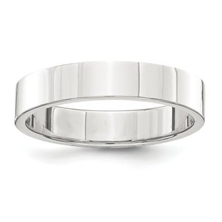 Sterling Silver 4mm Flat Band - White