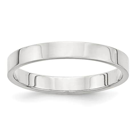 Sterling Silver 3mm Flat Band by Versil