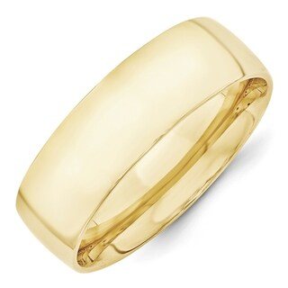 Link to 10K Yellow Gold 7mm Lightweight Comfort Fit Wedding Band by Versil Similar Items in Rings