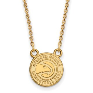 Gold Plated Atlanta Hawks Small Pendant with Necklace