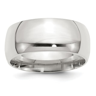Versil Sterling Silver 10mm Comfort Fit Band - White