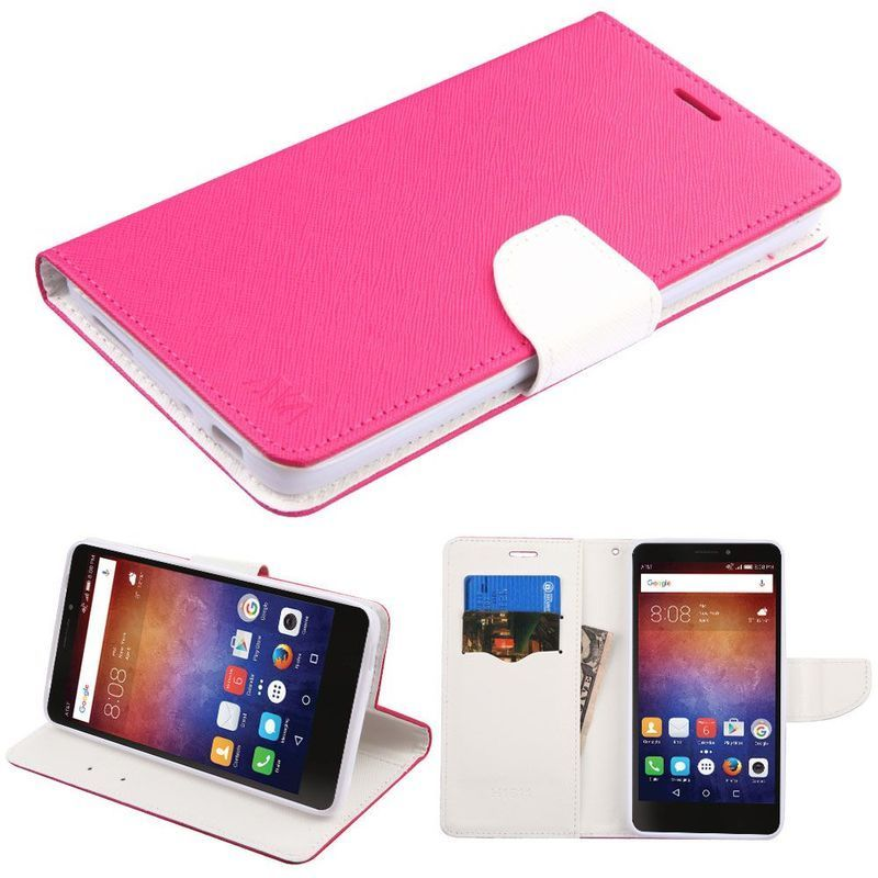 Insten Hot Pink/ White Leatherette Case Cover with Stand/...