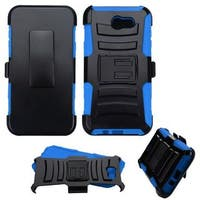 Insten Hard Snap-on Dual Layer Hybrid Case Cover with Stand/ Holster For Samsung Galaxy J7 (2017)/ J7 Perx/ J7 Sky Pro/ J7 V