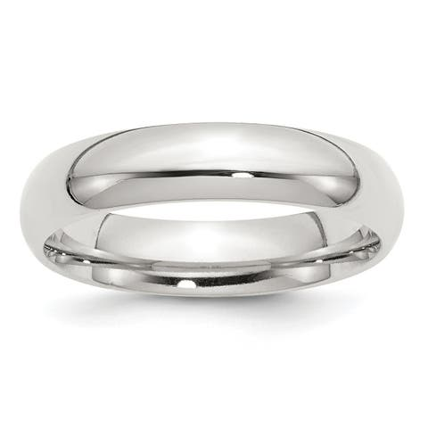Versil Sterling Silver 5mm Comfort Fit Band