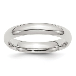 Sterling Silver 6mm Comfort Fit Band - White
