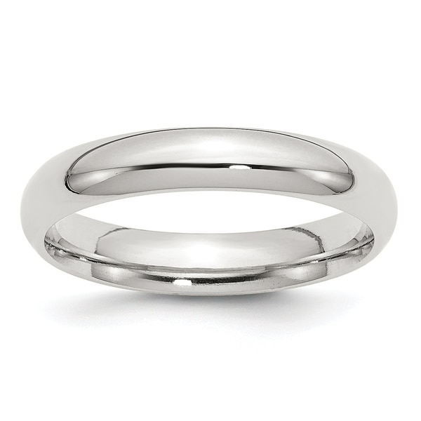 Versil Sterling Silver 4mm Comfort Fit Band