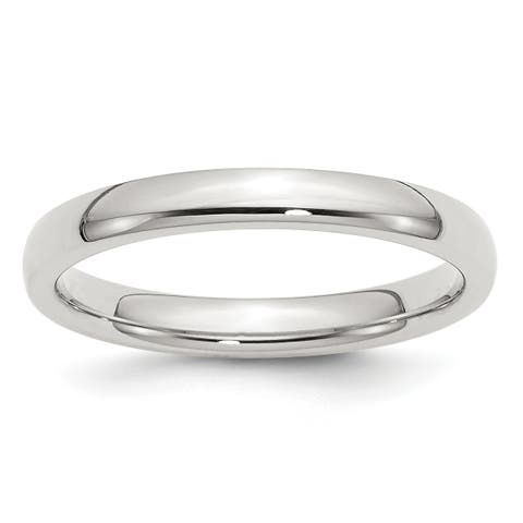 Versil Sterling Silver 3mm Comfort Fit Band