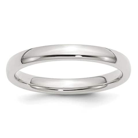 Sterling Silver 3mm Comfort Fit Band by Versil