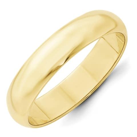 10k Yellow Gold 5mm Half-Round Wedding Band by Versil