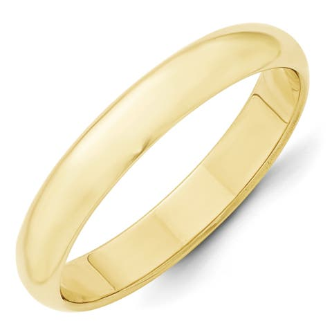 10k Yellow Gold 4mm Half-Round Wedding Band by Versil