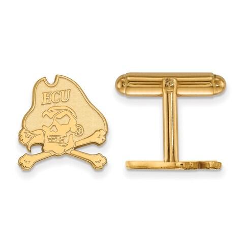 14 Karat Yellow Gold LogoArt East Carolina University Cuff Links