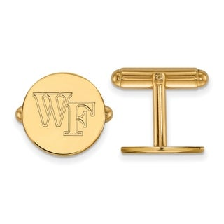 14 Karat Yellow Gold LogoArt Wake Forest University Cuff Links