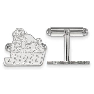 Sterling Silver LogoArt James Madison University Cuff Links