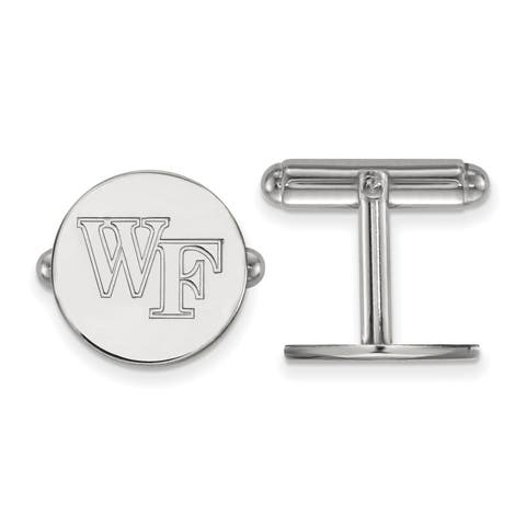 Versil Sterling Silver LogoArt Wake Forest University Cuff Links