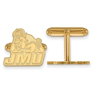 Sterling Silver With Gold Plating LogoArt James Madison University Cuff Links