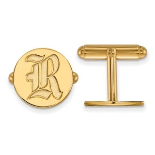 Sterling Silver With Gold Plating LogoArt Rice University Cuff Links